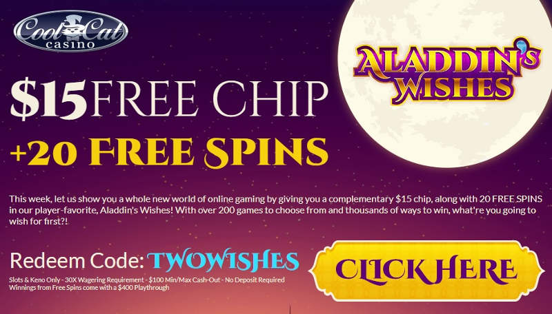 Cool Cat Casino Bonus - Free Chip No Deposit