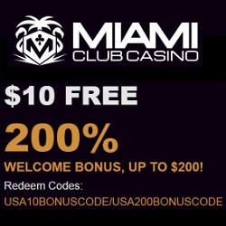 Miami Club Casino No Deposit Bonus Codes