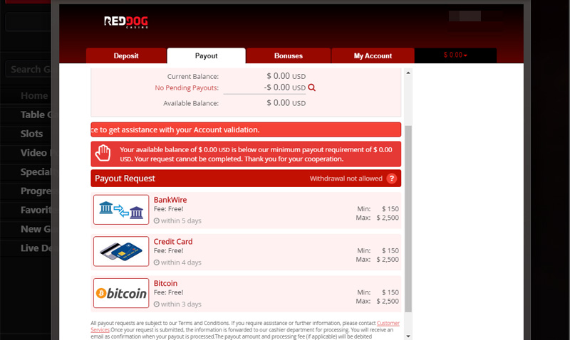 Red Dog Casino No Deposit Bonus 2020