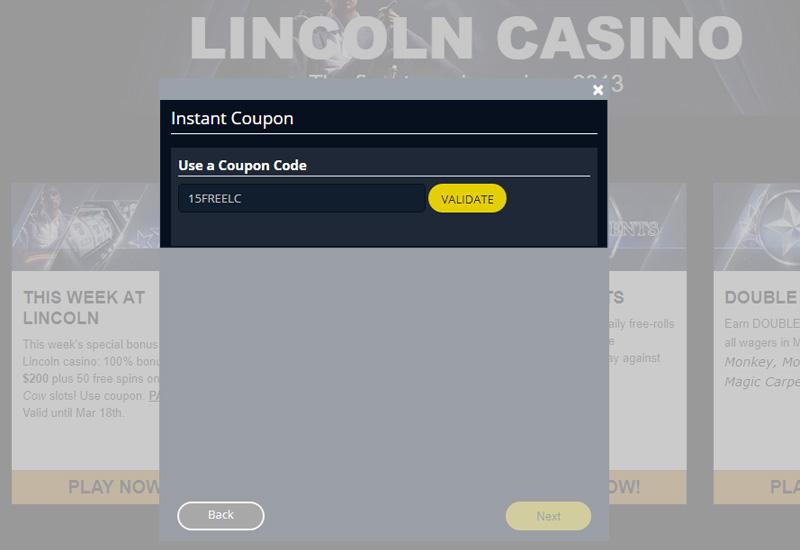 Lincoln Casino No Deposit Codes 2021