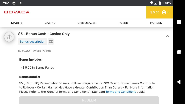 Bovada Casino No Deposit Bonus