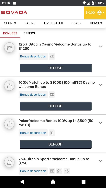 Bovada No Deposit Bonus 2021