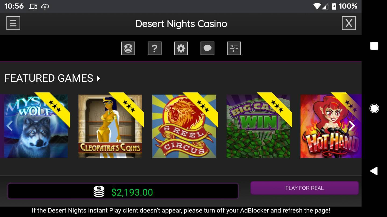 Desert Nights Casino No Deposit Bonus Codes Jul 2020