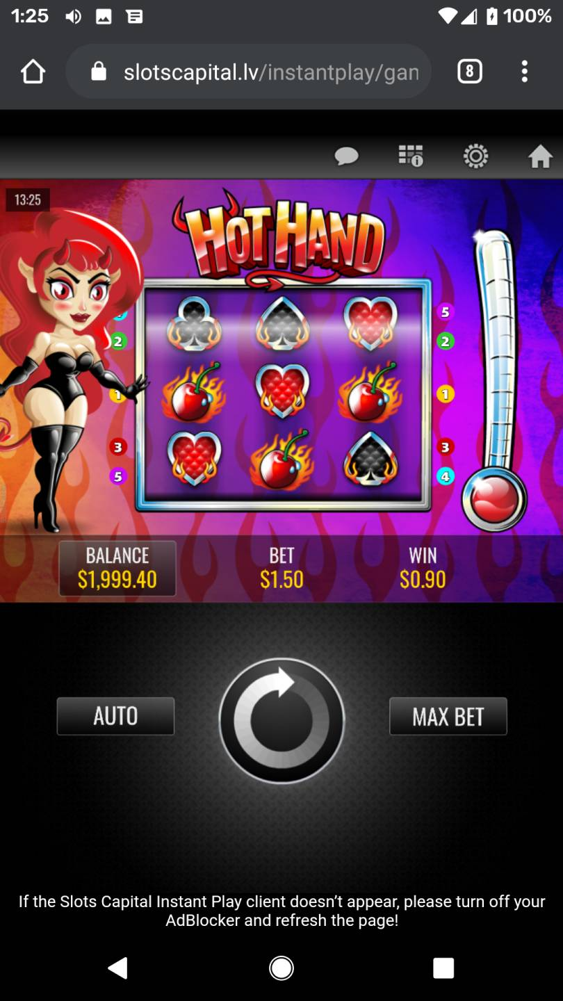 no deposit bonus.Slots Capital Casino has main goal - to serve fans of Rival slots with great selection of games, variety of ongoing bonuses and entertaining VIP club programme.Moreover, both type of players will find the right bonus to start, no deposit bonus hunters as well as highrollers.Grab the bonus and travel to Slots Capital for a cool.